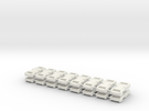 1/6 scale, 6mm Buckle X16 in White Strong & Flexible