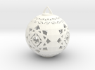 Scifi Ornament 1 in White Strong & Flexible Polished