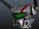 VF-1J/K Custom Head Unit in Frosted Ultra Detail