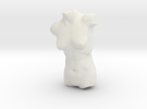 Female Torso Sculpt in White Strong & Flexible