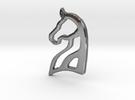 Arabian Horse Pendant in Polished Silver