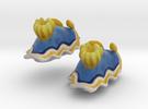 Nudibranch Ear Clips in Full Color Sandstone
