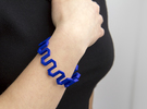 Medium Size - Pattern Bracelet in Blue Strong & Flexible Polished
