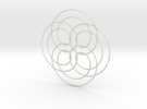 Spirograph02 in White Strong & Flexible