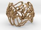 metà braccialetto G in Polished Brass