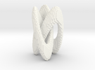 Trifold Knot - Pixelated in White Strong & Flexible Polished