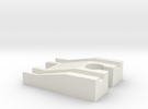 Female Tomy to Female Wooden Railway Adapter in White Strong & Flexible