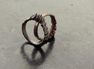 Fluctus Ring in Polished Nickel Steel