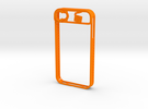 IPhone 4/4S in Orange Strong & Flexible Polished