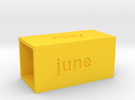 Calendar2 in Yellow Strong & Flexible Polished
