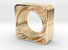 LOFF - wire cubic ring and pendant 2 in 14K Gold