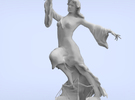 Justice Statue (large) in Stainless Steel