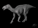 Iguanodon 1/72 in White Strong & Flexible
