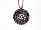 Pineapple Knot Pendant in Polished Bronze Steel