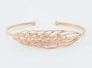 SALE! Wheat 17cm Bracelet (medium)  in 14k Rose Gold Plated