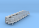 Ties Flat Car with sleepers load N scale (1/160) in Frosted Ultra Detail