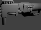 Electron Assault Rifle (with stand) for Transforme in White Strong & Flexible