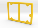 Badge Holder (Exhibition) in Yellow Strong & Flexible Polished