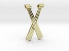 Criss-Cross Hexant Pendant in 18K Gold Plated