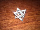 Merkabah in Polished Silver
