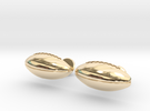 Football Cufflinks in 14k Gold Plated