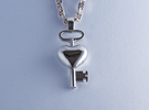 The key to a heart, 002 in Polished Silver