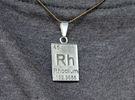 Rhodium Periodic Table Pendant in Rhodium Plated