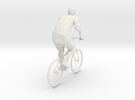 Man And Bicycle 1/29 scale in White Strong & Flexible