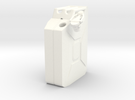 NATO 20L Jerry Can 1/10 Scale in White Strong & Flexible Polished