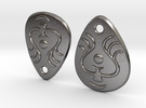 Laputian Earrings in Polished Nickel Steel