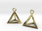 Tetrahedron earrings #Gold in 18k Gold Plated