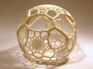 HexaSphere 1 in White Strong & Flexible