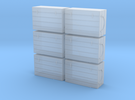S 6 Fish Crates in Frosted Ultra Detail