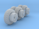 1/35th Australian LRPV Land Rover wheels. in Frosted Ultra Detail
