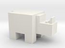 Cubicle Rhino in White Strong & Flexible