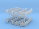 1/64th UFS Triaxle Fenders set of four  in Frosted Ultra Detail