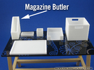 Office: Magazine Butler 1:12 scale miniature in White Strong & Flexible Polished