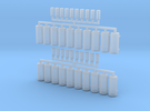 AWS Reservoir Tanks x20 (OO Gauge) in Frosted Ultra Detail