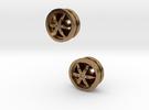 2x Designfelgen für LKW  Nr.1 in Raw Brass