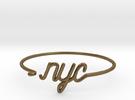 NYC Wire Bracelet (New York City) in Raw Bronze