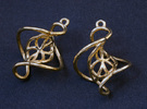Swirl Earrings in Polished Brass