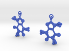 Caffeine Earrings in Blue Strong & Flexible Polished