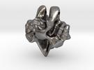 LoveRock Pendant in Polished Nickel Steel