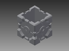 Companion Cube Holder in White Strong & Flexible