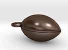 American Football in Polished Bronze Steel
