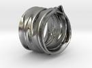 DrapeRing in Raw Silver