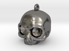 Skull Pendant in Polished Nickel Steel