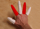 Iron Man Pointer/Ring Finger (x1) in White Strong & Flexible