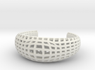 Neo Geometricism* Bangle S ( Small ) in White Strong & Flexible