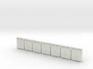 HO scale(1:87) PostBoxes Version 02 in White Strong & Flexible